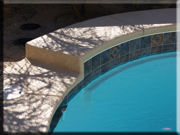 Raised bond beam pebble pools awesome innovative project for Virtual pool builder