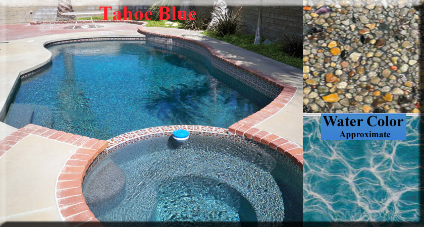 Pool Plaster Mix : Aquaphina pebble colors